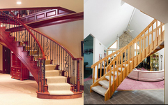 We Offer Prefabricated Staircases Including Curved, Spiral Or Flared In Any  Hardwood Specie Such As Red Or White Oak, Poplar, Hard Maple, American  Cherry, ...