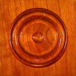 "Stair Parts - Bullseye - 27/32"" x 4-1/2"" x 4-1/2"" Bullseye Square Edge Rosette"