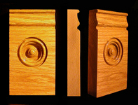 "Stair Parts - Bullseye - 1-1/16"" x 3-1/2"" x 6-1/2"" Bullseye Plinth Block"